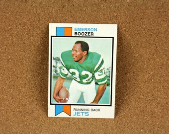 Emerson Boozer Running Back Football Card - New York Jets TOPPS Card 464 - 1973 Excellent - Mint