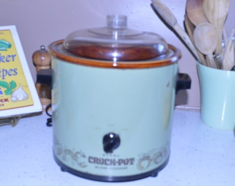 Olive Green Classic Rival Crock Pot Model 3100 / 2 ~ 3 1/2 Quart ~ Slow Cooker ~ GrandesTreasures
