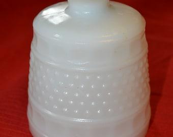 Cleveland Glass Co. Vintage Napco #1180 Milk Glass Planter White Hobnail Pedestal Planter Wedding Vase