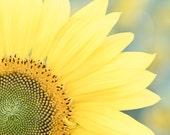 Sunflower Photo, Sunflower Wall Decor, Yellow Flower Photo, Flower Wall Art, Farmhouse Wall Decor, Country Kitchen Art