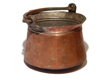 Copper Jam Pot - Vintage Copper Pot
