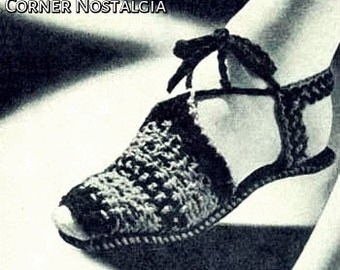 Woven Sandals Pattern- crochet pdf pattern
