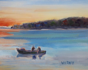 Small Painting, Door County Wisconsin Small Oil Painting, Oil on Canvas Painting, Original Oil, Valentine Gift for Him, wall art Sue Whitney