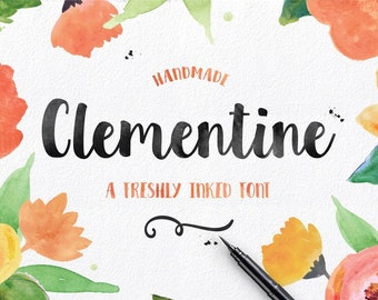 Clementine Hand drawn Script Font Download Commercial or Personal License