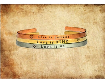 """Love is patient Love is kind Love is us 