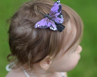 Simple Summer Monarch Butterfly Hair Clip