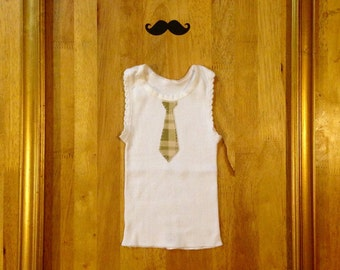 Baby singlet w/ checkered tie-Size 0000
