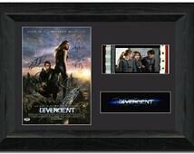 Divergent 35 mm Framed Film Cell Display Framed Stunning Collectable Cast Signed Theo James Shailene Woodley