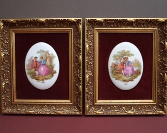 A pair of Limoges Wall Plaques