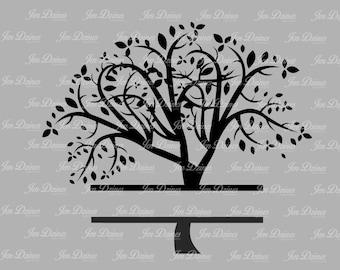Split Family Tree SVG DXF EPS cutting fil, family tree files, cutting files for cricut silhouette, svg , family tree design,