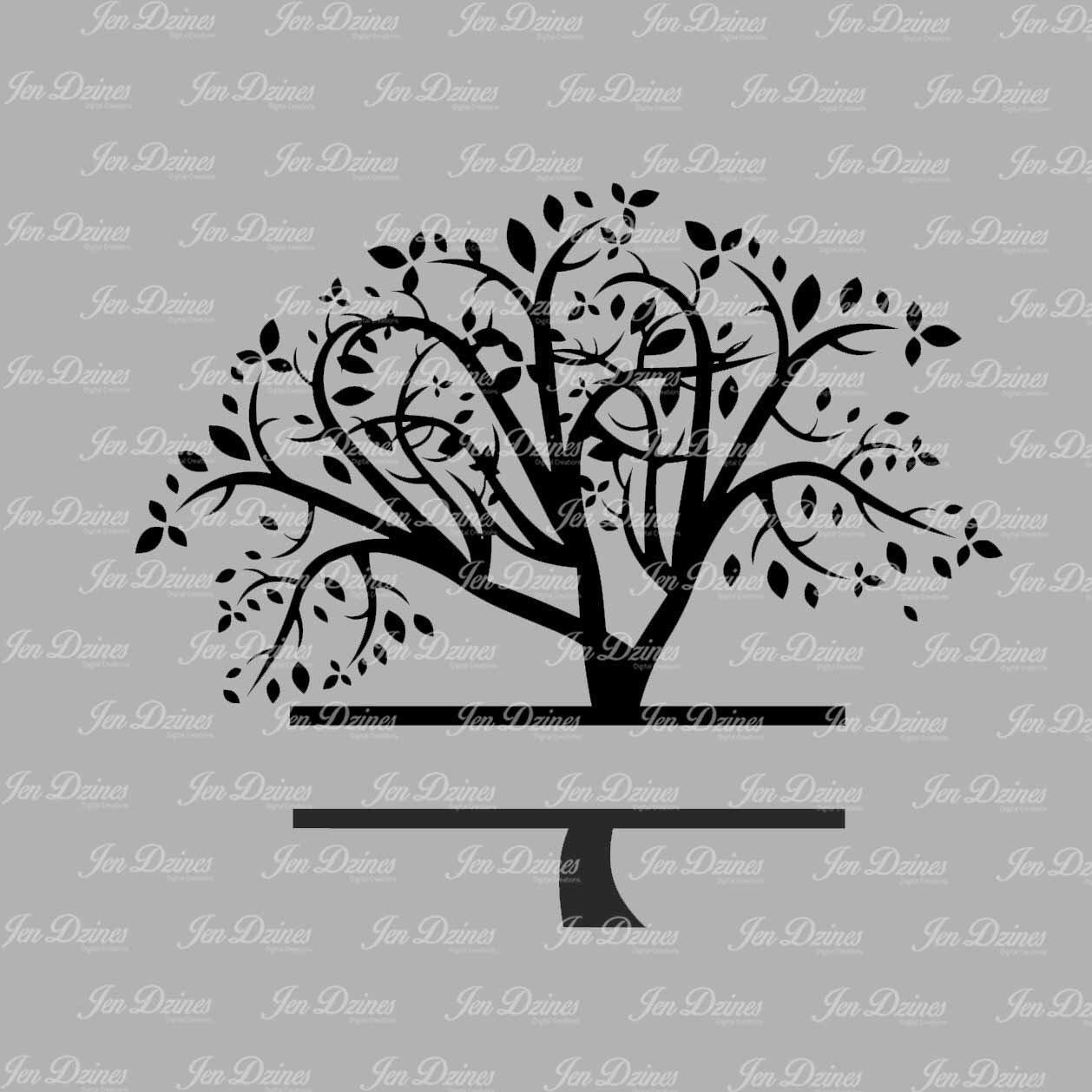 Split Family Tree SVG DXF EPS cutting fil family tree files