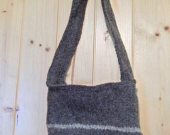 Handmade felted wool purse