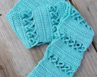Crochet Cancer Scarf New! Handmade ready to ship! Robin Egg color