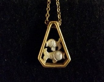 Pieces - Gold/Silver Zodiac Vintage Necklace