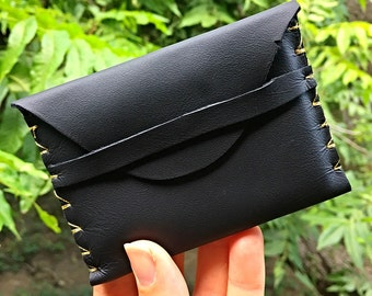 Leather Hand-stitched Business Card Holder