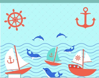 Sea Clipart, Dolphin Clipart, Rowboat Clipart,Rudder Clipart, PNG Clipart, Download Clipart, Scrapbook, anchor clipart, ClipartCL 017