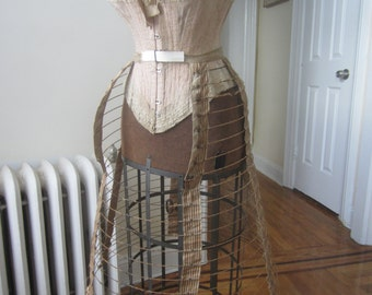 Antique victorian Bustle wire hoop skirt