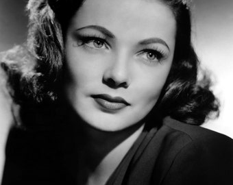 Gene Tierney Beautiful Face Poster Art Photo Artwork 11x14 or 16x20