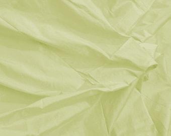 CHRISTMASINJULY SALE Silk Dupioni Fabric - Very Light Pistachio Green - 100% Silk - SLDP2