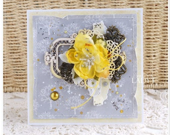 Unique Handmade Any Occasion Card Birthday Yellow