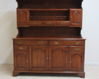 Henkel Harris Wild Black Cherry China Cabinet Hutch Curio Display
