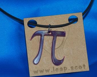 Laser cut acrylic pi necklace