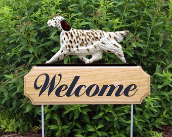 English Setter Welcome Garden Stake