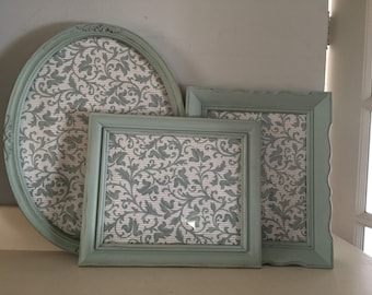 Vintage Duckegg Blue Picture Frames