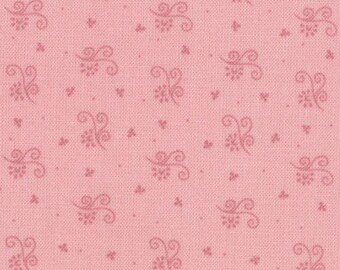 SALE - Tiny Scrolls Pink - Ooh La La by Bunny Hill Designs for Moda Fabrics - 2836 17