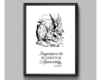 Digital Print – Alice In Wonderland – Imagination Is The Only Weapon