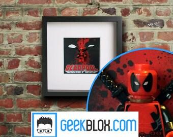 Deadpool Framed Lego Minifigure from Marvel Movie