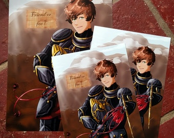 APH Hetalia Medieval Armoured Spain A4 and A5 print