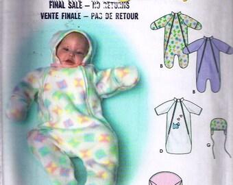 Babies Bunting and Hat and one size blanket bunting/ Nids d'ange et chapeau pour petit bébé et nid d'ange-couverture- Simplicity no 9418