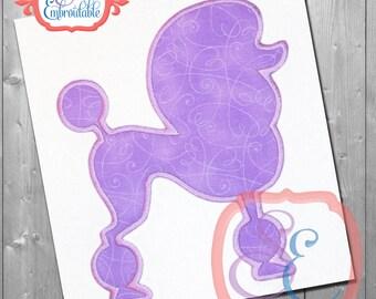 POODLE SHAPE Applique Design For Machine Embroidery INSTANT Download