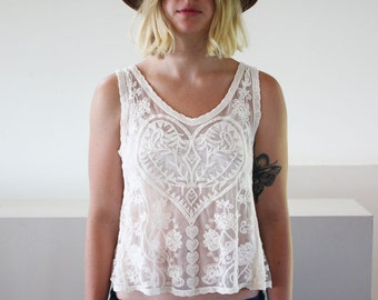 White Lace  top - On sale