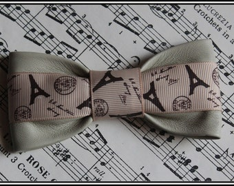 Bow tie. Genuine kidskin leather. Steampunk Bow tie. Pre tied bow tie made with softest of soft kidskin leather.
