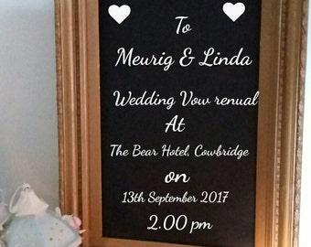 Used Vintage Antique Gold Picture Frame for Wedding / menu ? Chalkboard Chalk Board