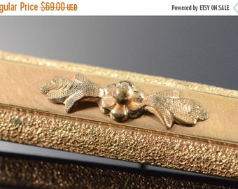 ON SALE Gold Filled Victorian Detailed Bar Pin/Brooch