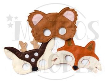 Woodland Friends Masks