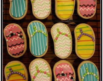 Sandals Cut Out Sugar Cookies - 1 Dozen