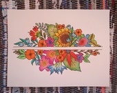 Custom Design Watercolor Floral Painting 9x12