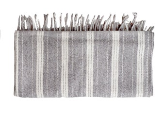 Wool throw | Thick Stripe