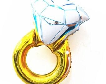 Engagement Ring Mylar Balloon. Wedding Ring Mylar Ballon. Bridal Shower. Engagement Party. Bachelorette Party. Wedding.