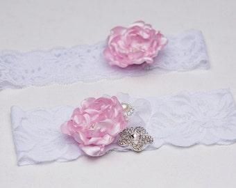 Set of garters, Bridal Garter, Toss Garter,Lilac garter