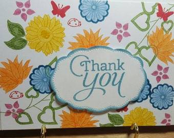 Bright and cheery Thank You card