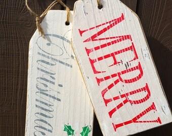 Merry Christmas Front Door Decor, Wood Sign, Home Decor, Rustic Home Decor, Christmas Wood Sign, Christmas Decorations