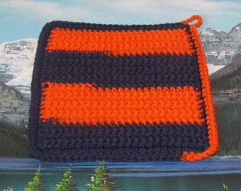 Hand crochet double thick hot pad CHP 009