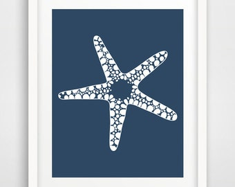 Nautical baby shower, sea shell, wall prints, coastal art, starfish, nautical nursery, art posters, nautical wall decor, beach wall art