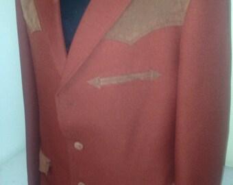 Western Jacket Polyester/Suede