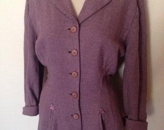 1940's Button Down Wool Dress
